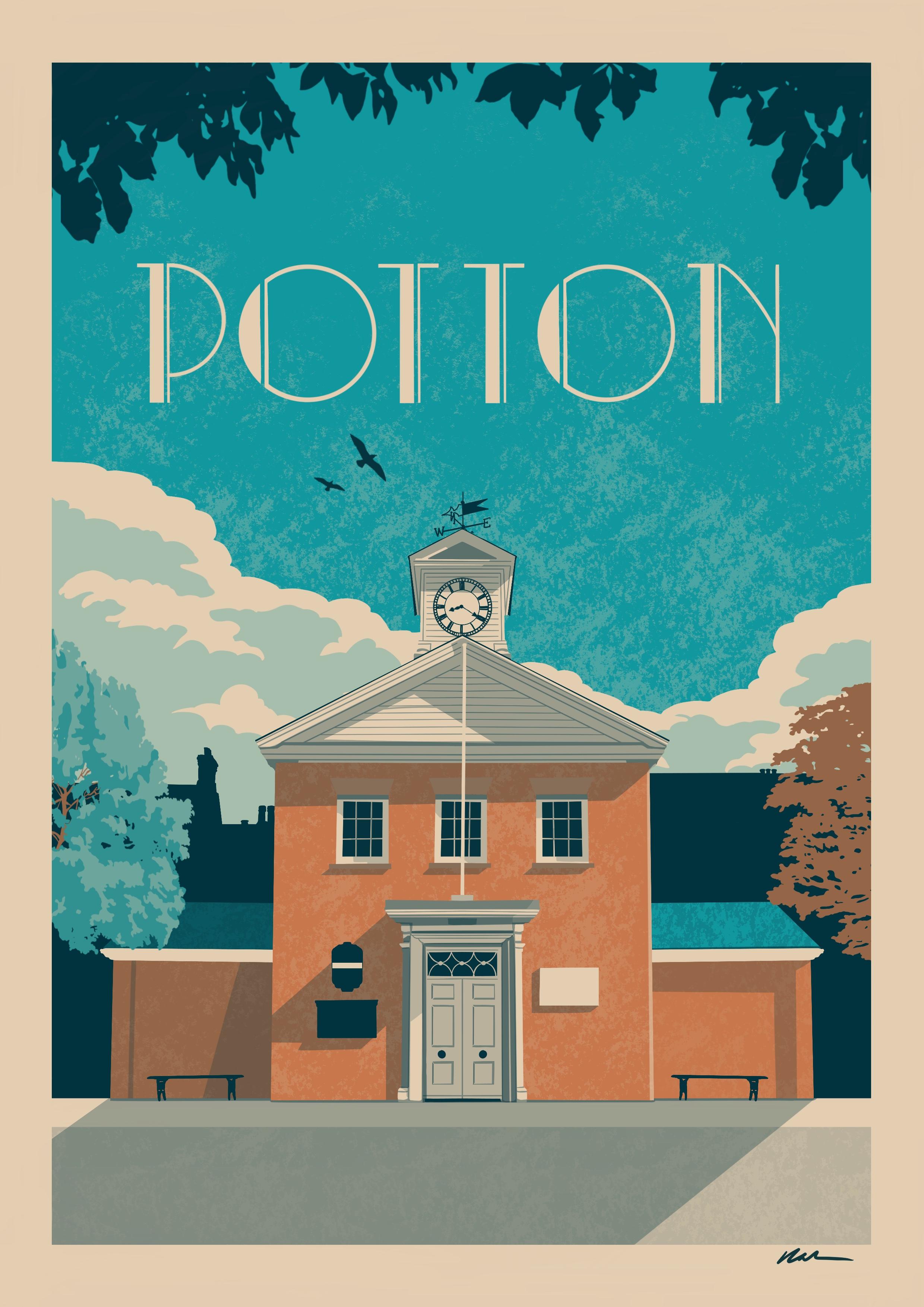 Potton Travel Poster